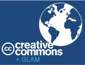 Graphic depicting the letters GLAM and a globe
