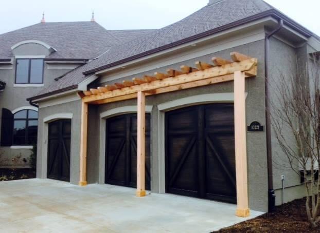 Garage Cedar Trellis