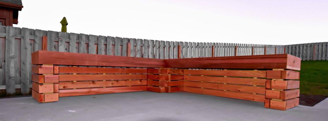 Wood Bench 2