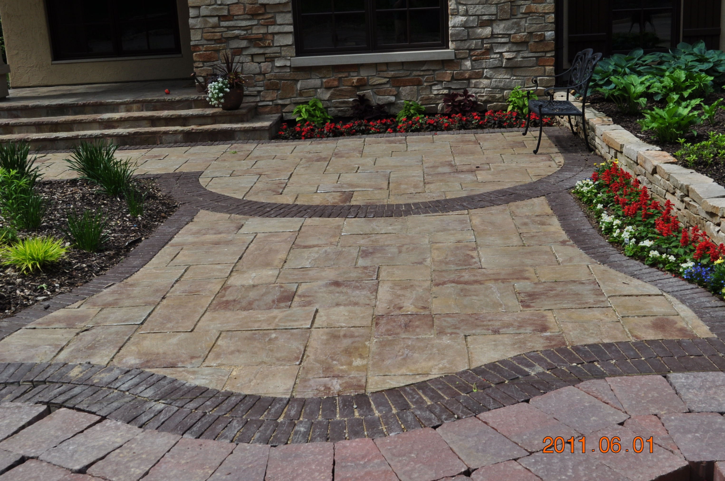 Rockford Brick Paver Landscape Features - Brick paver ... on Brick Paver Patio Designs  id=27299