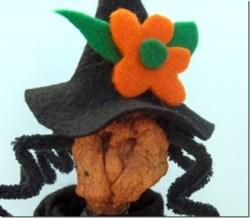 Hazel the Hallowe'en Witch Apple Head Doll