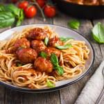 Chicken Parmesan Meatballs and Spaghetti