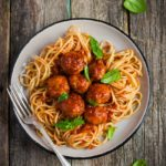 Chicken Parmesan Meatballs and Spaghetti