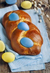 Italian Braided Easter Egg Bread
