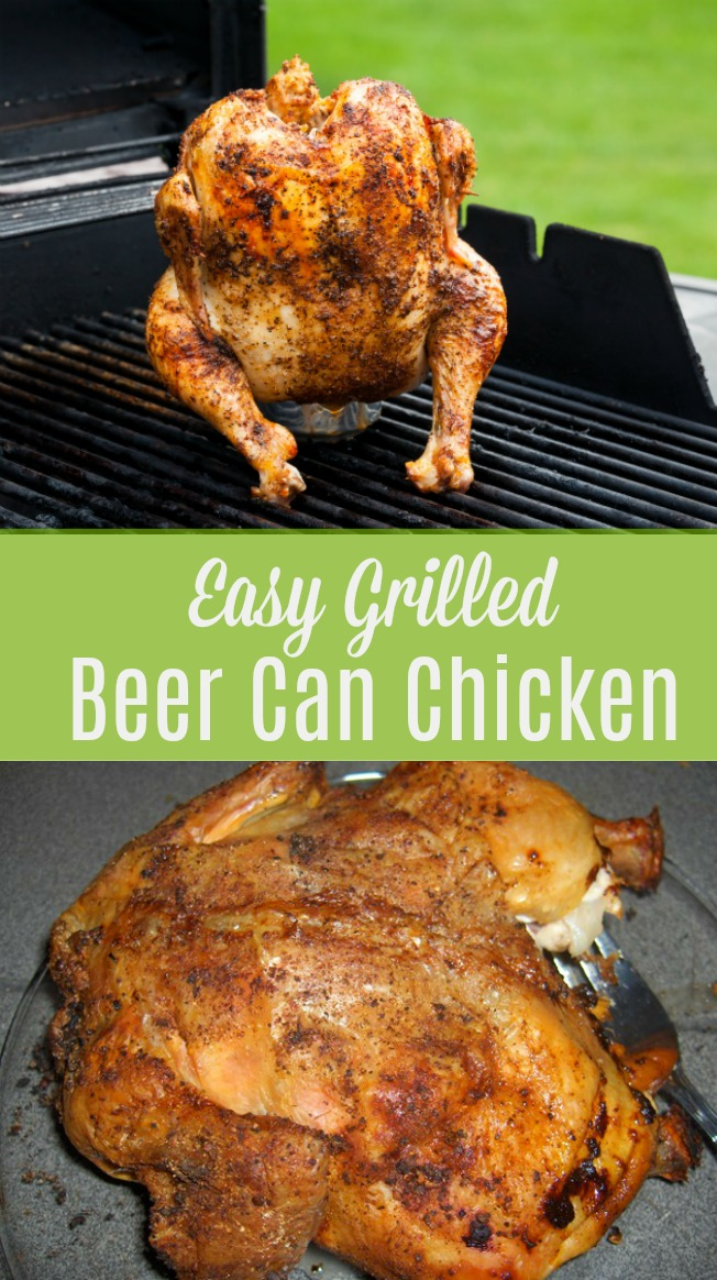 easy grilled beer can chicken with spice rub