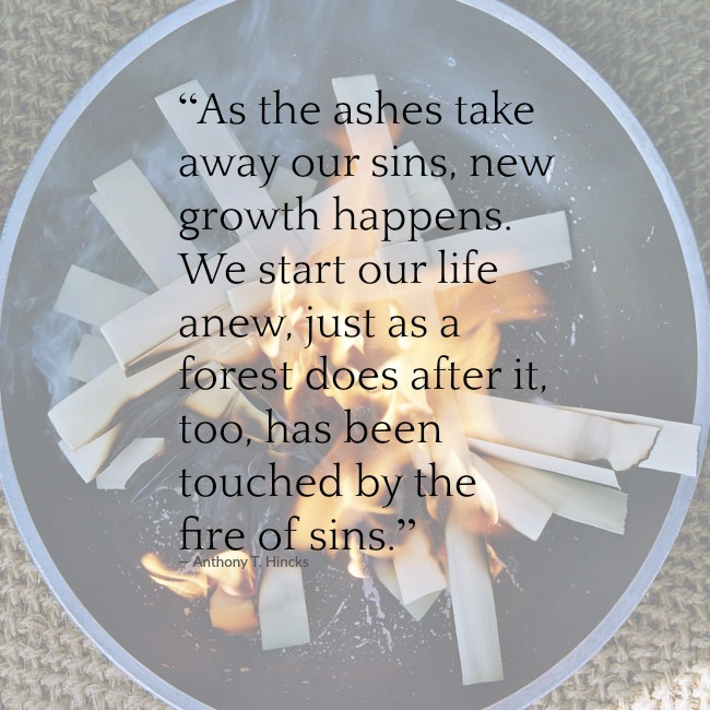 ashes on ash wednesday take away our sin
