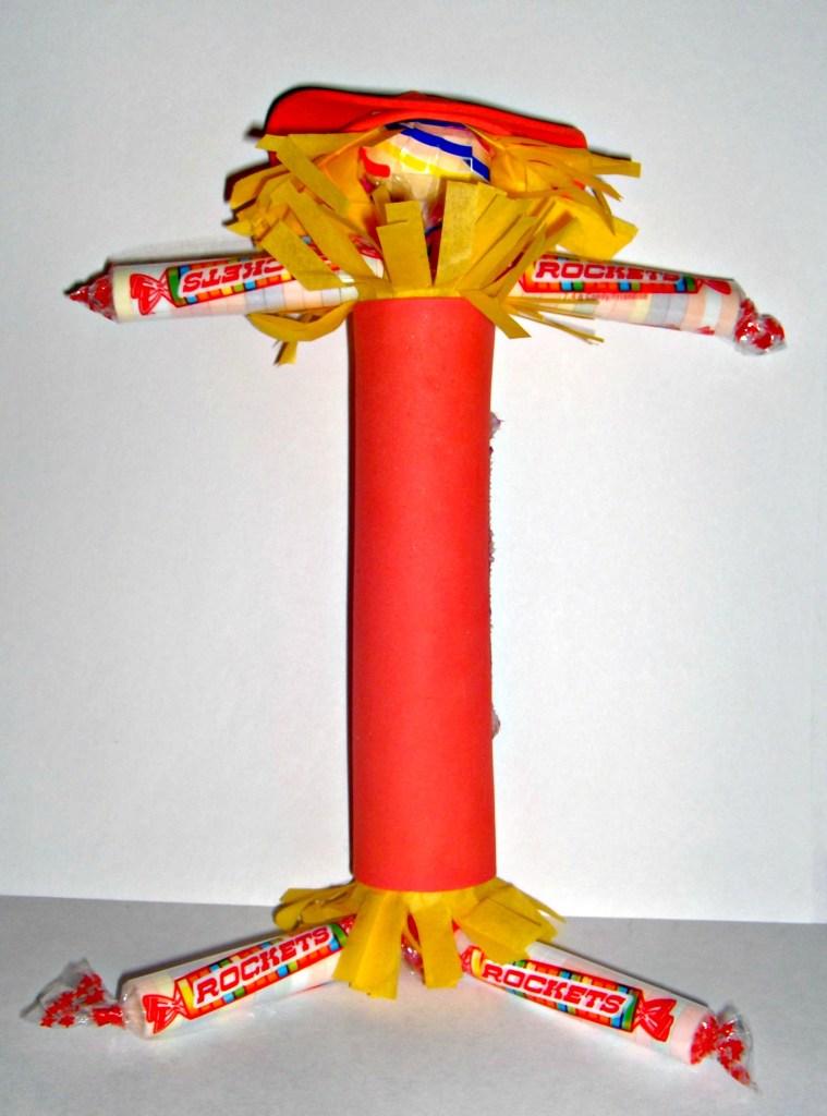 Rockets Candy Scarecrow from CreativeCynchronicity.com #RocketsCandyRocks