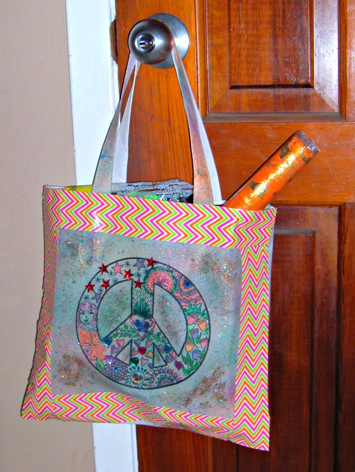 Crafty Chica Eco Tote embellished by CreativeCynchronicity.com