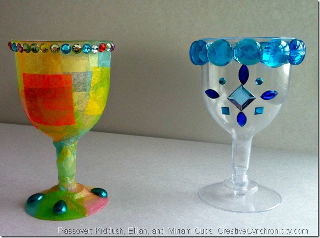 Make your own Kiddush, Elijah, and Miriam Cups for Passover, CreativeCynchronicity.com