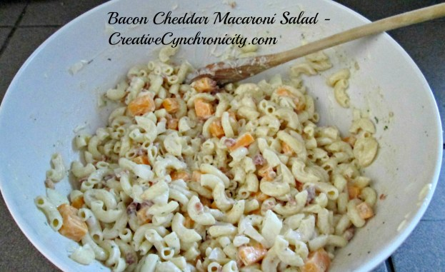 A Bacon and Cheese Pasta Salad Perfect for Summer Picnics in the Park and Backyard BBQs - CreativeCynchronicity.com