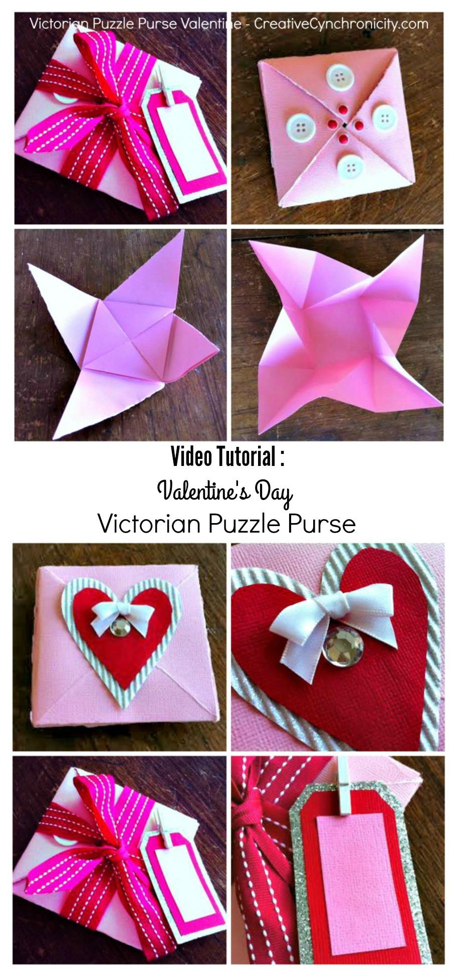 Valentine's Day Victorian Puzzle Purse