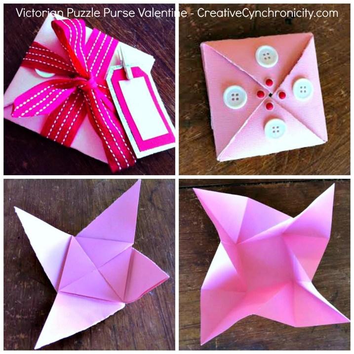 Victorian Puzzle Purse Valentine - CreativeCynchronicity.com