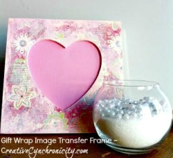 Easy Gift Wrap Image Transfer Photo Frame