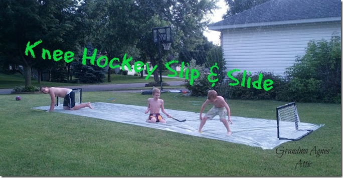 knee hockey slip and slide
