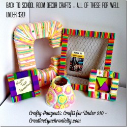Crafts Under $10: Back to School Room Decor