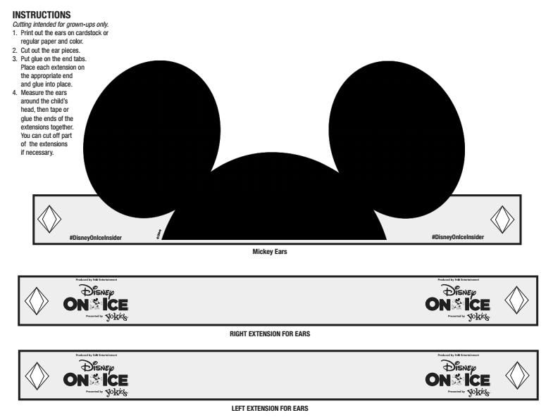 picture regarding Printable Mickey Mouse Ears named Printable Mickey Mouse Ears - Disney Insider - Inventive