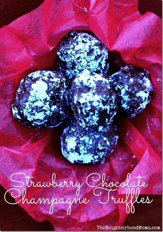 strawberry-chocolate-champagne-truffles