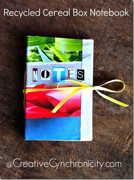Quick and easy cereal box notebooks recycled crafts craft recycled cereal box notebook ccuart Images