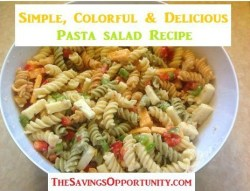 Simple Colorful Pasta Salad {12 Days of BBQ and Picnic Ideas}