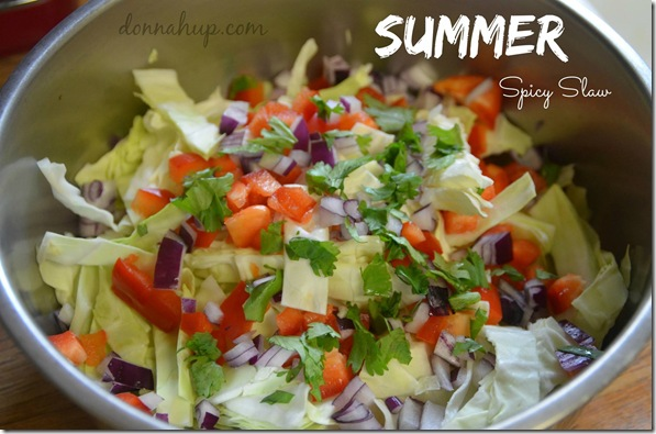 Spicy Summer Slaw - perfect for a cool summer meal!
