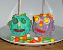 Candy Apple Monster Faces