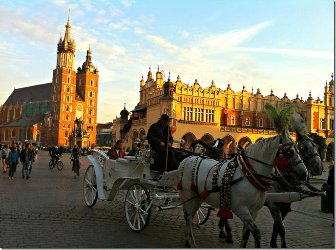 Rynek Glowny (Main Square) Krakow Poland