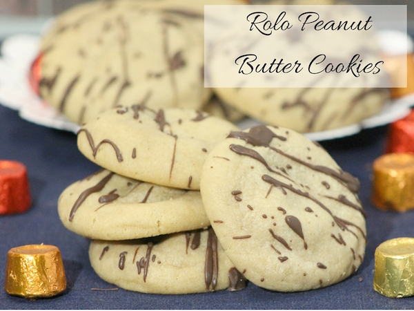 Rolo Peanut Butter Cookies