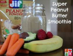 Super Peanut Butter Smoothie Recipe {12 Days of Healthy Living}