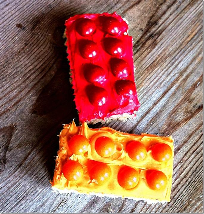 Fun Lego Rice Krispie Squares