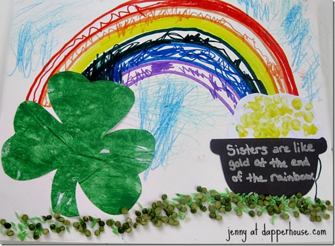 Multi-media-St-Patricks-Day-Themed-Art-lessons-and-craft-activity-tutorial-for-kids-@dapperhouse