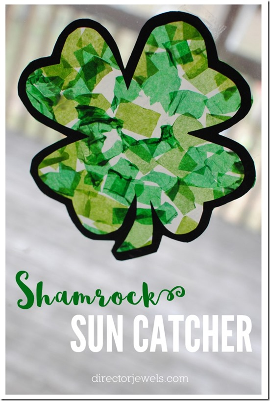 shamrock sun catcher st patricks day kids craft 1