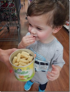 Sawyer thinks Gerber Lil Beanies are delicious. I love that they are nutritious.