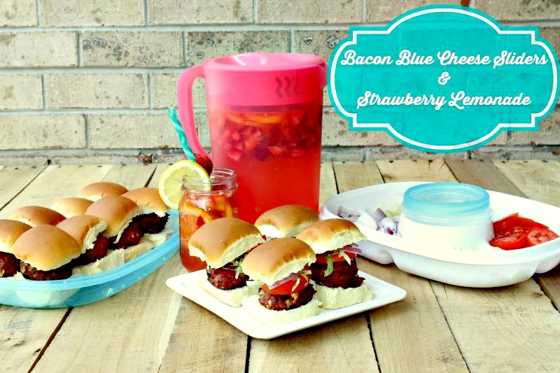 bacon blue cheese sliders with strawberry lemonade recipes