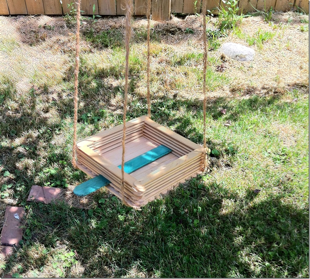 Scout Crafts - Make a Bird Feeder from Popsicle Sticks