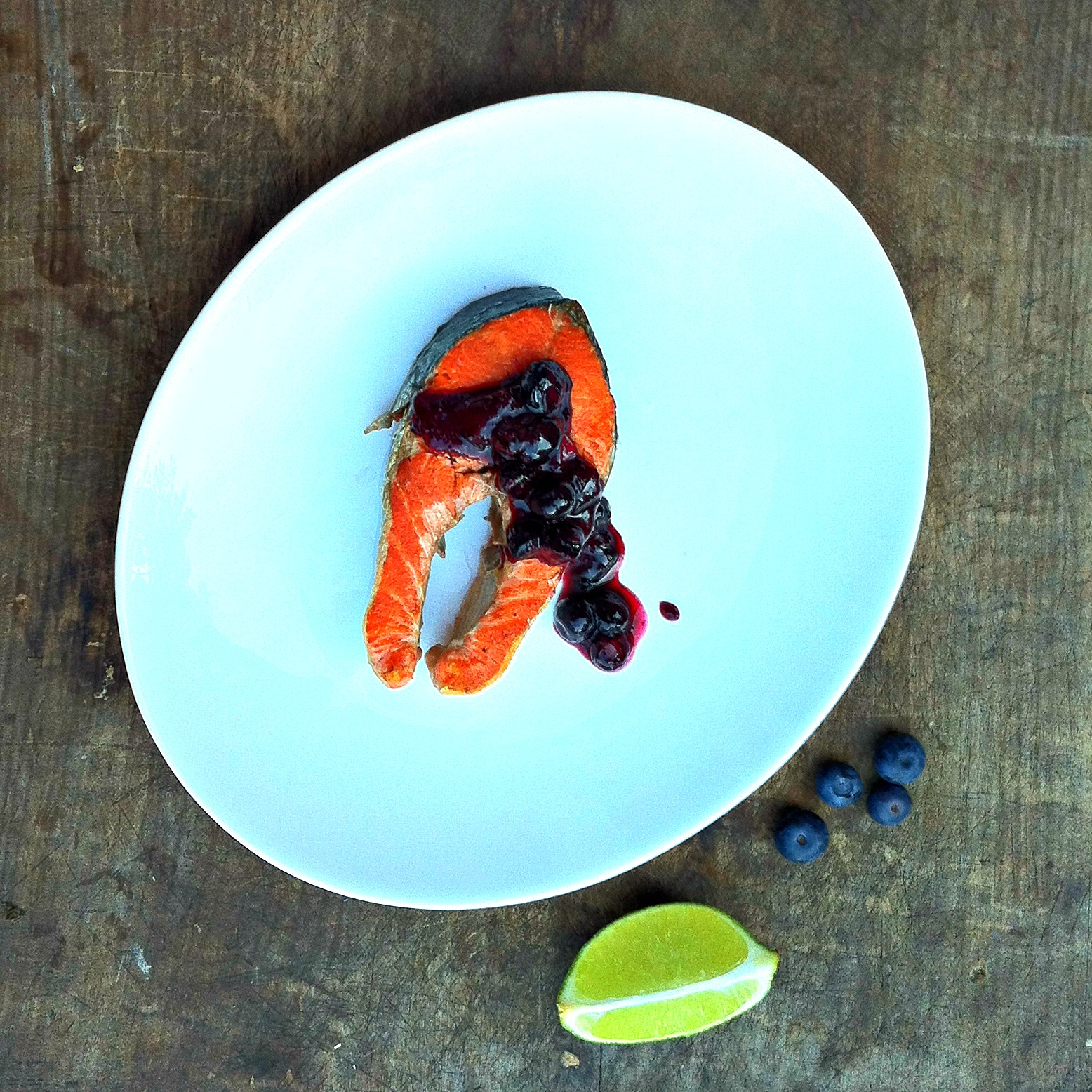 Grilled Cedar Planked Sockeye Salmon with Maple Blueberry Chutney ...