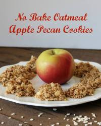 No Bake Oatmeal Apple Pecan Cookies Recipe
