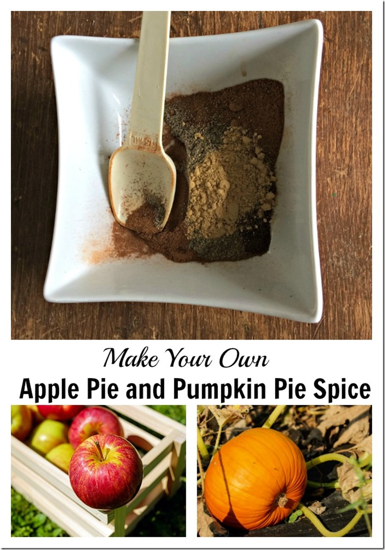 make your own apple pie and pumpkin pie spice blends