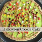 Halloween Cookie Cake – Use Up Your Halloween Candy!