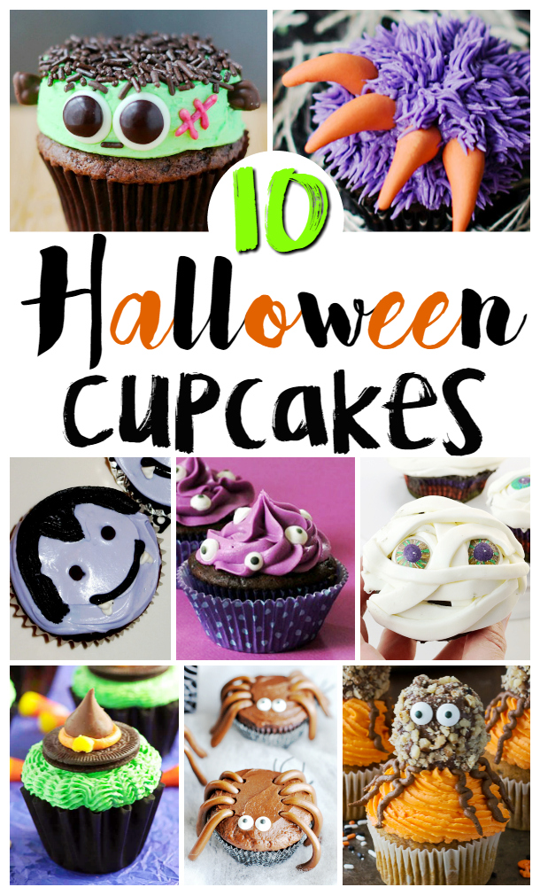 Halloween Cupcakes - 10 Fun and Spooky Designs