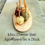 Mini Cheese Ball Appetizers on a Stick Recipe
