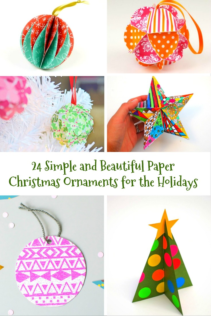 Simple And Beautiful Paper Christmas Ornaments Creative