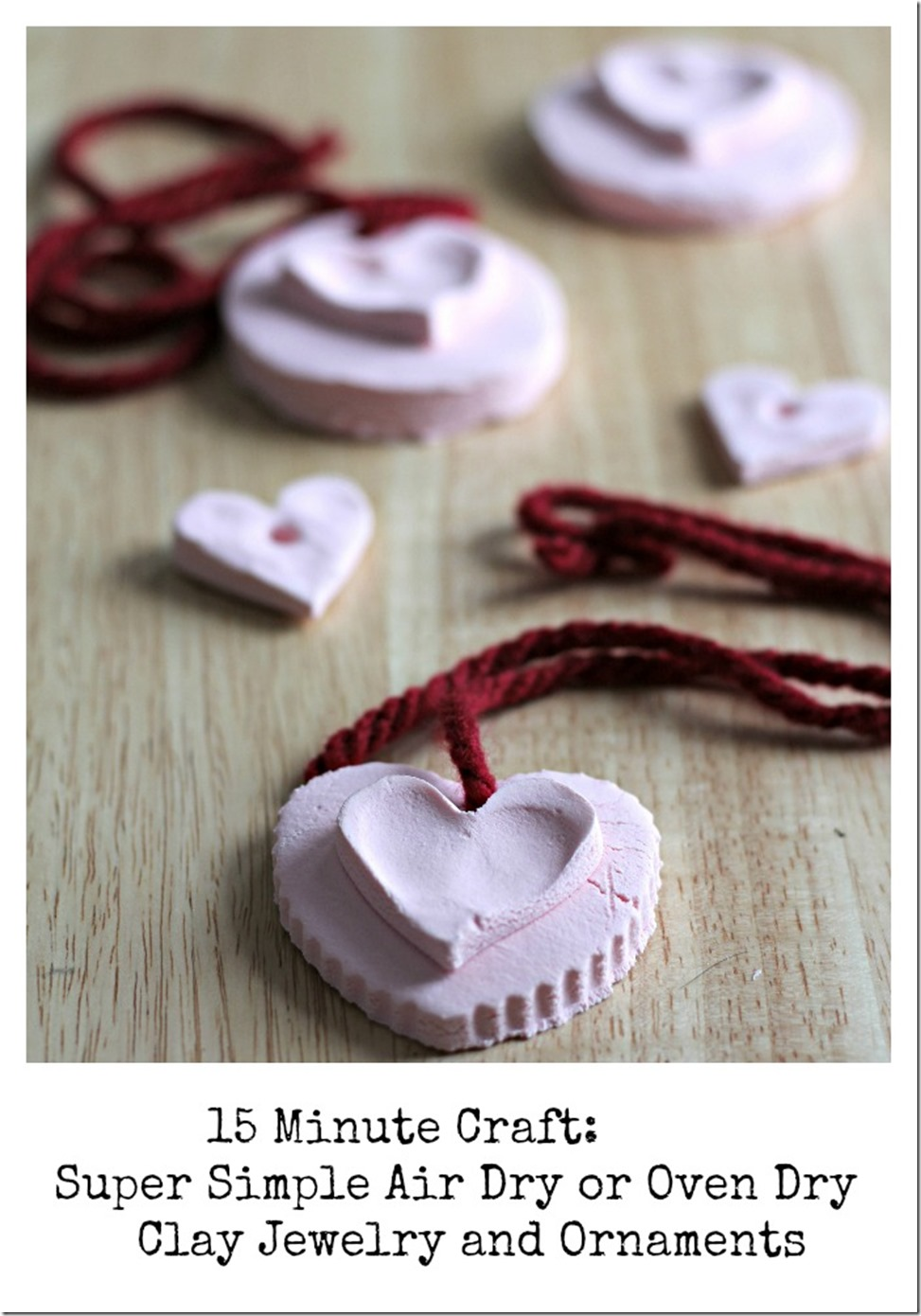 15 minute craft - clay ornaments and jewelry