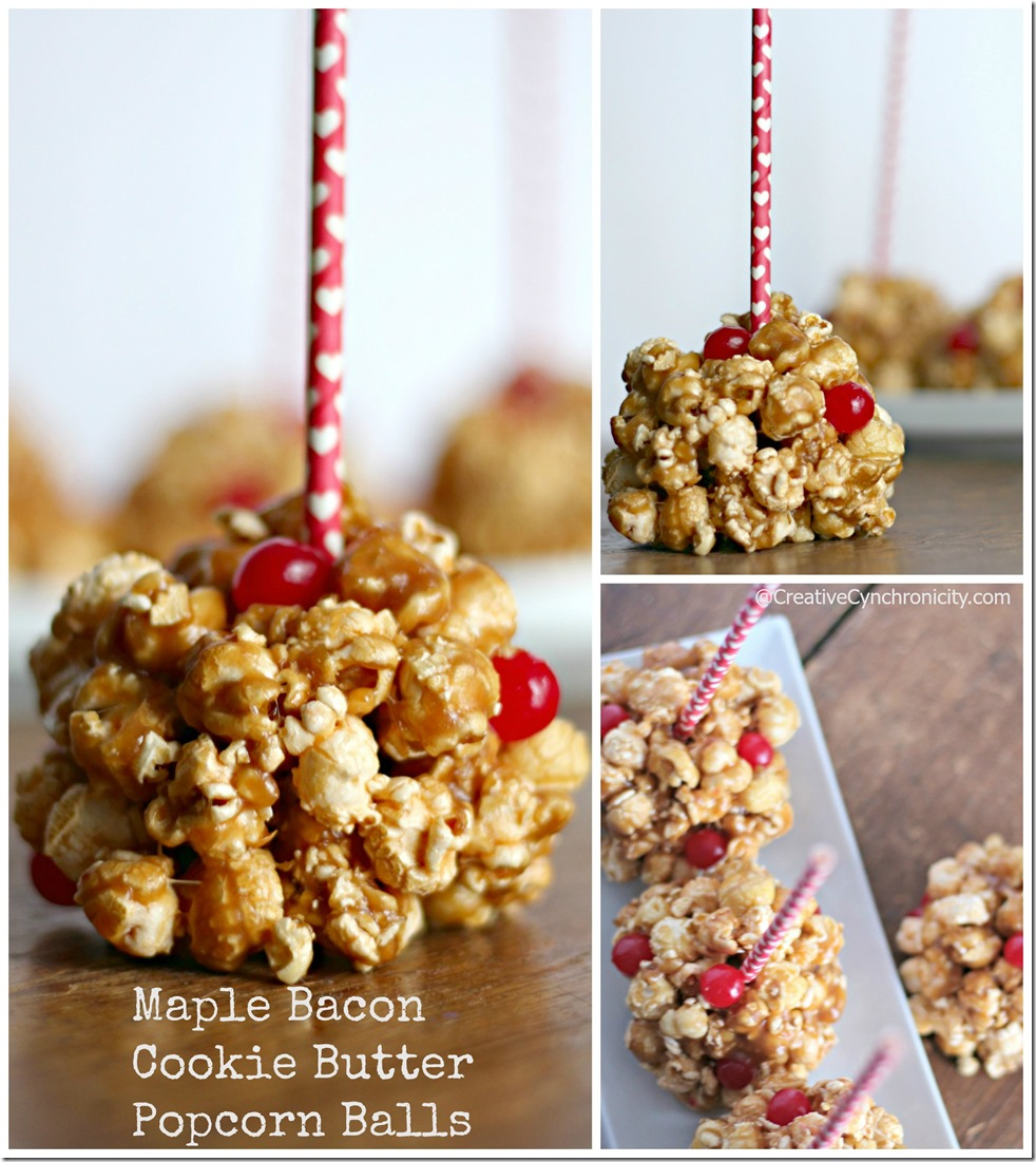 Bacon and Maple Cookie Butter Popcorn Balls text