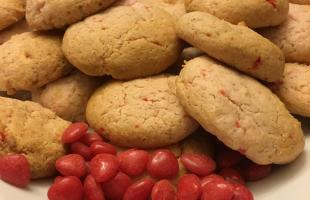 Cinnamon Heart Cream Cheese Cookies