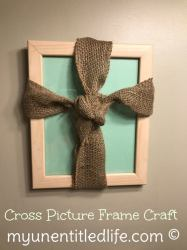 Rustic Cross Picture Frame Craft
