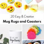 20 Easy and Creative DIY Mug Rugs and Coasters
