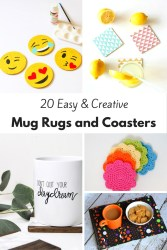 20 Easy and Creative DIY Mug Rugs and Coasters