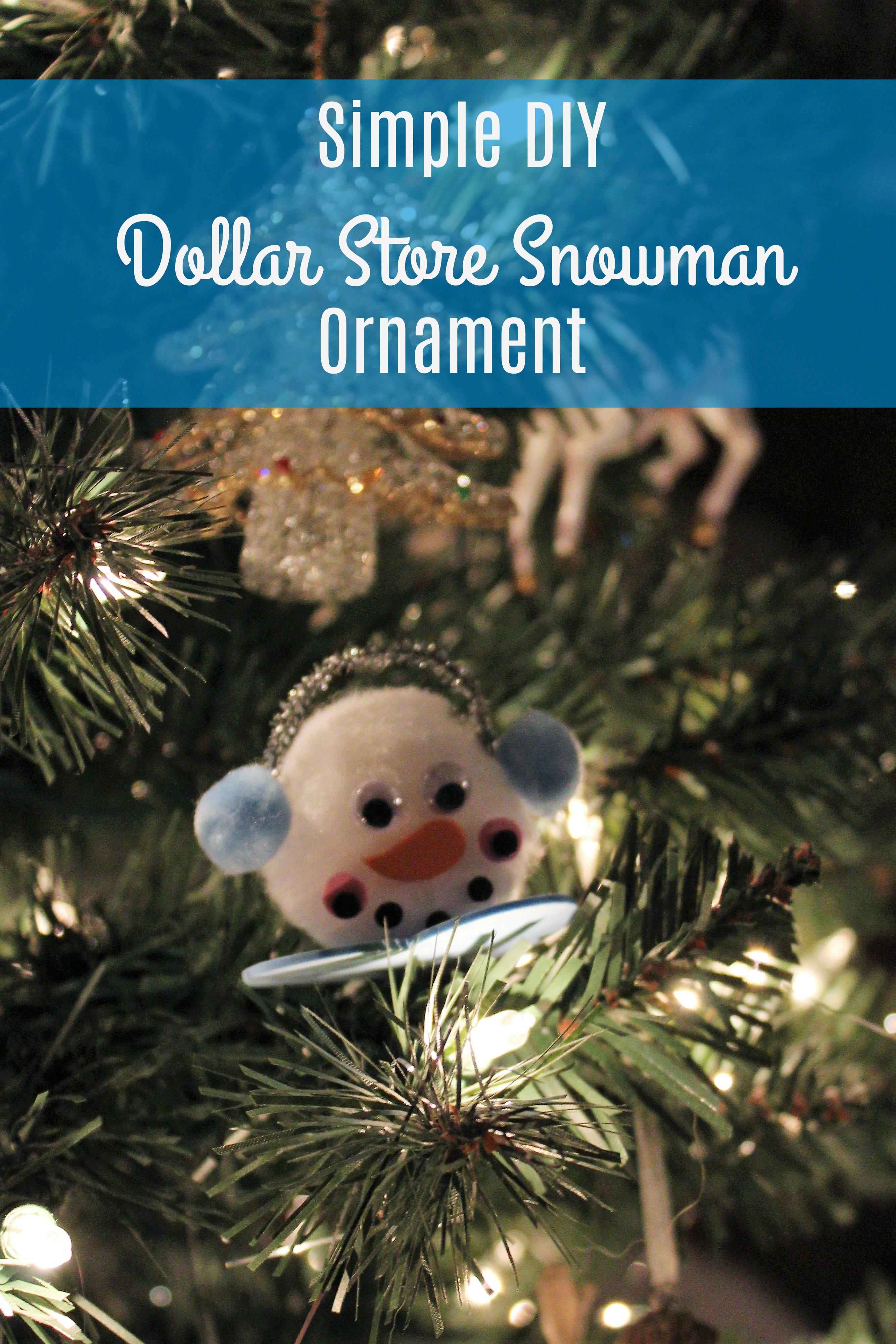 Diy Dollar Store Snowman Ornament Creative Cynchronicity