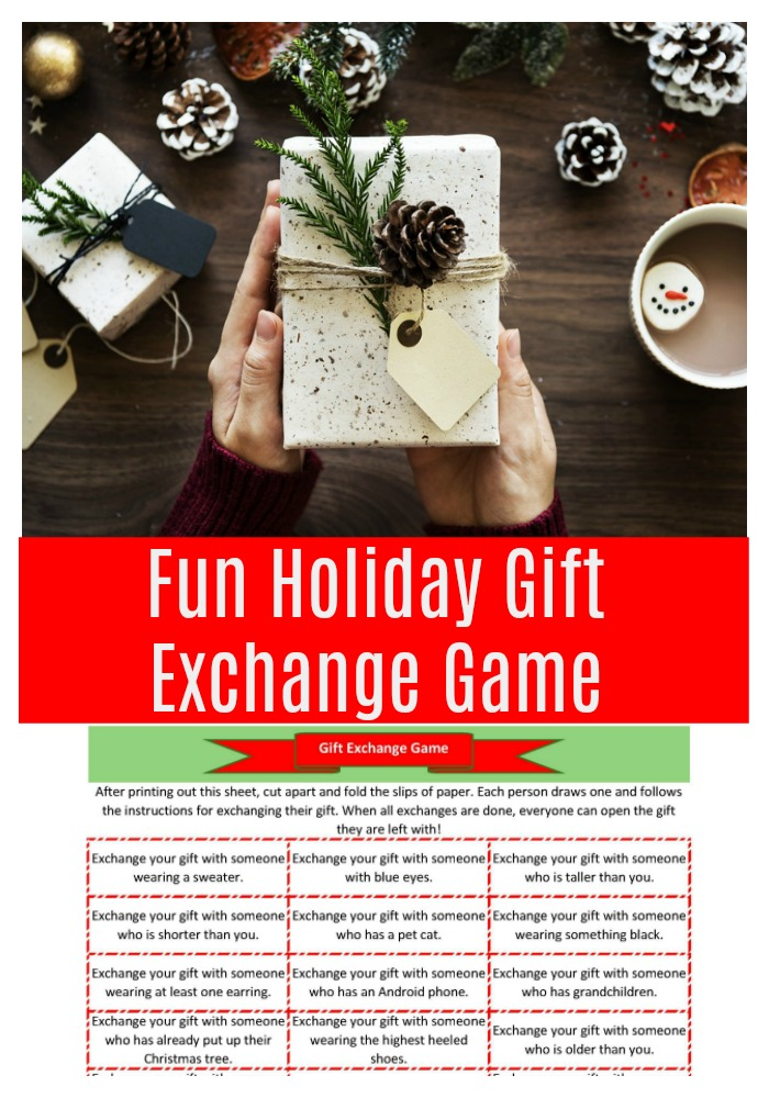 fun holiday gift exchange game