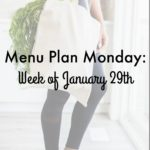 Menu Plan Monday: Week of January 29